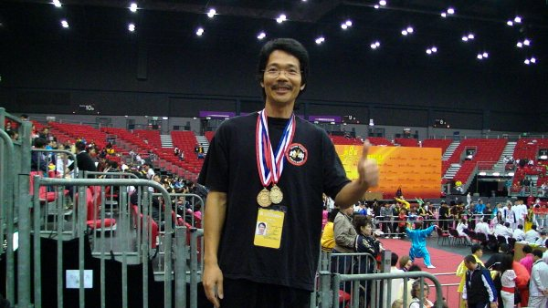 Sam Jian with 2 gold medals